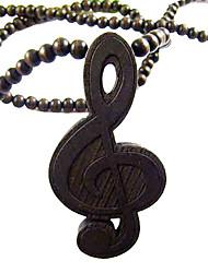 música colar de madeira padrão símbolo