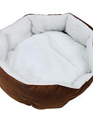 padrão da pata do cão Octangle cama macia para cães gatos (42 x 42 centímetros, cores sortidas)