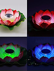 Cor Solar Powered Floating Alterar Lotus Flower Garden Lamp Noite Piscina