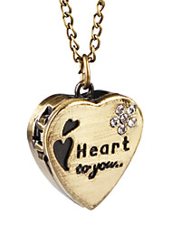 Belle alliage Regarder douce Collier Design Coeur