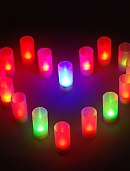 12 - LED Candle Light Color Changing Sound Control Candle Wedding or Party Gifts