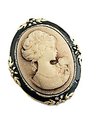 Lady Pattern Embossment Brooch