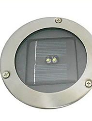 2 LED de luz blanca paisaje subterráneo lámpara de jardín de energía solar