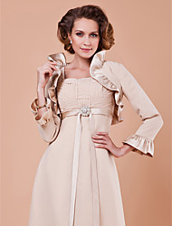 Long Sleeve Satin Special Occasion Evening Jacket/Wedding Wrap(More Colors) Bolero Shrug