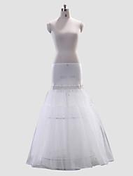 Plenitude A-Line/Medium poliéster Full-Length Estilo deslizamento casamento / Petticoat