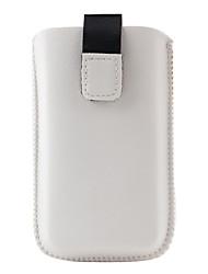 bolsas de cuero de la PU para el iPhone 3G y 3GS (blanco)