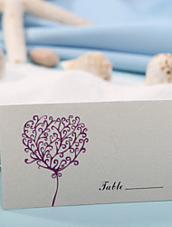 Place Cards and Holders Place Card - Heart Print (Set of 12)
