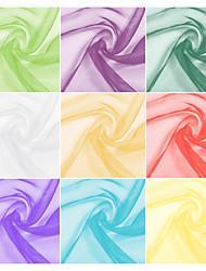 100% polyester organza tissu au mètre (plusieurs couleurs)