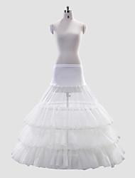 Vestido de poliéster A-Line/Full Tier 2 Full-Length Estilo deslizamento casamento / Petticoat