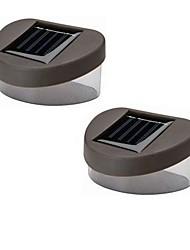 Solar Bianco Deck Luce E Recinzione parete lampada (2-pack)