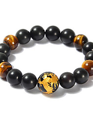 Gorgeous Black  Onyx Round Men's Bracelet