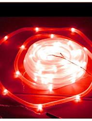 Solar 50-LED Light Red Tube Lámpara al aire libre jardín Patio Decoración