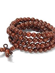 natural indiano Bois de Rose 108 contas pulseiras oração 6 milímetros