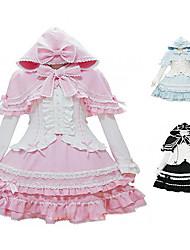 Piccola Strega manica lunga Camicia gonna al ginocchio Terylene Sweet Lolita Costume