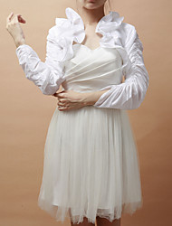 Wedding  Wraps Coats/Jackets 3/4-Length Sleeve Taffeta White Party/Evening Open Front