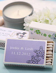 Wedding Décor Personalized Matchboxes - Starfish (Set of 12)