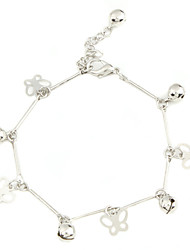 Butterfly Shape with Tinkle Bells Sliver Plated Bracelet