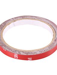 3M Car PET cinta adhesiva de doble cara - Rojo (10mm de ancho)