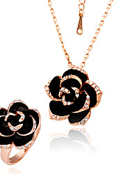Women's Gold/Alloy Jewelry Set Rhinestone
