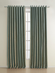 Two Panels  Michelle Luxury® Stripe Polyester Jacquard Energy Saving Curtain
