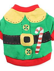 Gatos / Perros Disfraces / Camiseta Verde Ropa para Perro Invierno / Primavera/Otoño Bloques Adorable / Cosplay