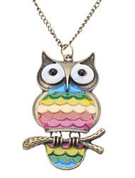 Rainbow Owl Vintage Necklace