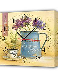 botanica di stile orologio da parete contemporanea in tela
