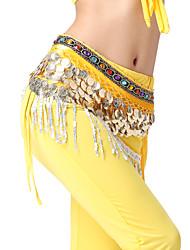 desempenho dancewear 408 moedas de veludo com cristais de dança do ventre para senhoras mais cores