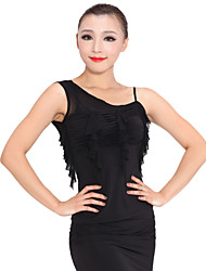 Ballroom Dancewear Viscose Latin Dance Top For Ladies