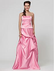 -линии длиной до пола, атласное платье невесты с забрать юбки