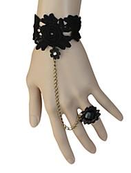 Jóias Lolita Clássica e Tradicional Bracelete/Pulseira Lolita Preto Lolita Acessórios Bracelete Rendas Para Feminino Renda / Liga