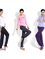 Yoga Casual Sportswear Suits 2 Sätze (Rope Kurzarm Yoga T-Shirt + Yoga Pants)