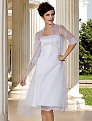 Gorgeous Organza 3/4-Length Sleeve Wedding Evening Jackets/Wraps (More Colors) Bolero Shrug