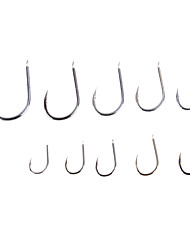 High-Carbon Steel Chinu Fishing Hooks Set (1000Pcs 10 Sizes 0.5#-8#)