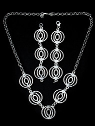 Elegant Silver Plated Lantern Women's Jewelery Set Including Necklace,Bracelet