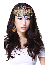 Performance Dancewear Alloy with Three Red Gems Belly Dance Headpiece For Ladies More Colors