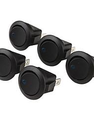 Car OFF / ON Interruptores basculantes con indicador de luz azul (5-piece Pack, 12V)