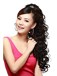 Capless Long Wave Black High Quality Synthetic Hair Wig