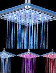 Ducha para Chuveiro de Teto em Quadrado Acrílico com 12-LED 20,32 cm x 20,32 cm
