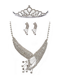 Marvelous Rhinestones Wedding Bridal Jewelry Set,Including Necklace,Earrings And Tiara