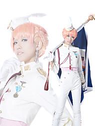 Macross Frontier Sheryl Nome Bianco Militare Costume Cosplay Divisa