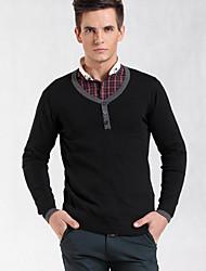 delgado delgado suéter con cuello en V
