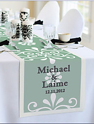 Table Centerpieces Personalized Reception Desk Table Runner - Green Elegance  Table Deocrations