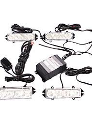 8W 16 LED Car Red / Blue Strobe Light Caution Warning Light (DC 12V)