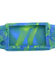 Camouflage Silicon Skin Protect Case für Sony PSP 3000