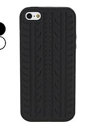 pneu étui souple de grain pour l'iphone 5/5s (couleurs assorties)