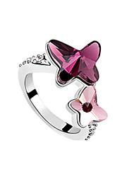 Quatre pointes Anneau Fashion Star Cristal