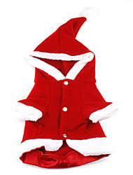 Christmas Santa Claus Style Hoodie Coat for Dogs(Red,XS-XL)