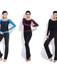 Trajes Yoga ropa deportiva Casual 2 juegos (Yoga de manga larga T-Shirt + pantalones de yoga)