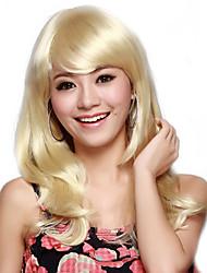 Capless Lange Golf Blond hoogwaardig synthetisch haar pruik